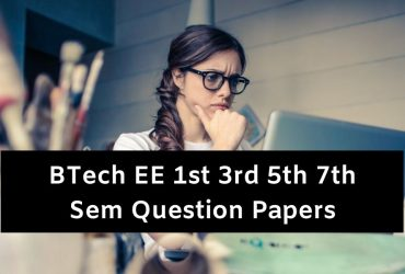 BTech EE Question Papers