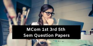 Mdu MCom Question Papers