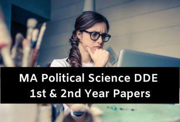 MA DDE Political Science Question Paper